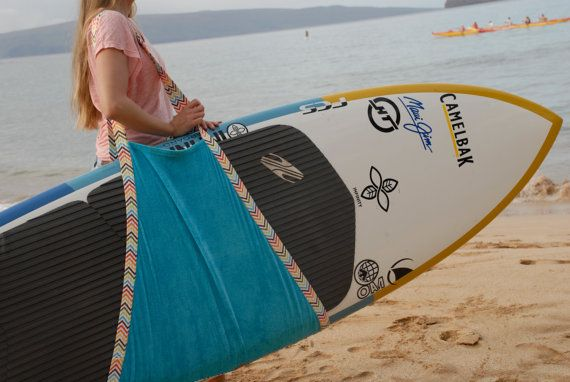 Hele Board Wrap Stand Up Paddle Board & Longboard Carrier / Towel / Sling Surfboard Carrier on Etsy, $45.00