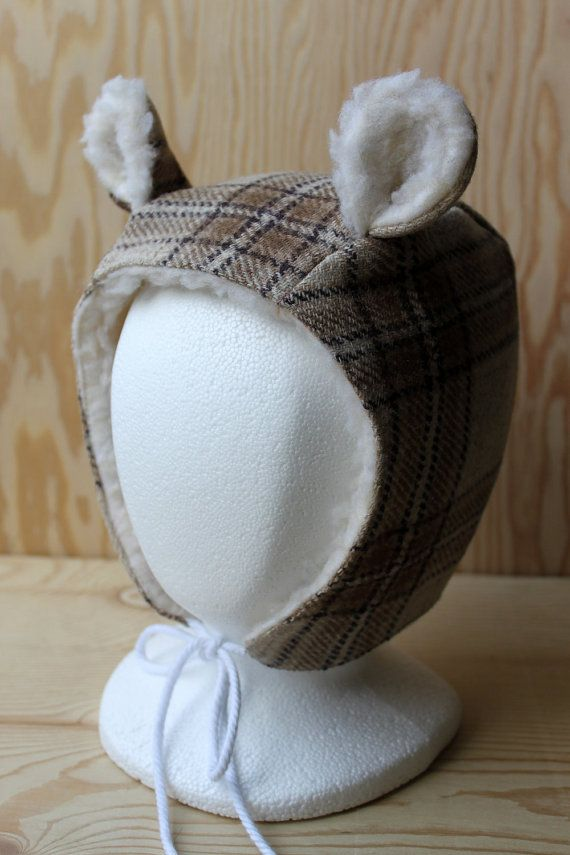 Yokai Hat  Brown Plaid by HydraHeart on Etsy