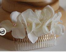 Tocado Andrea / Peineta flores hortensia / tocado niñas comunión / tocado niñas arras