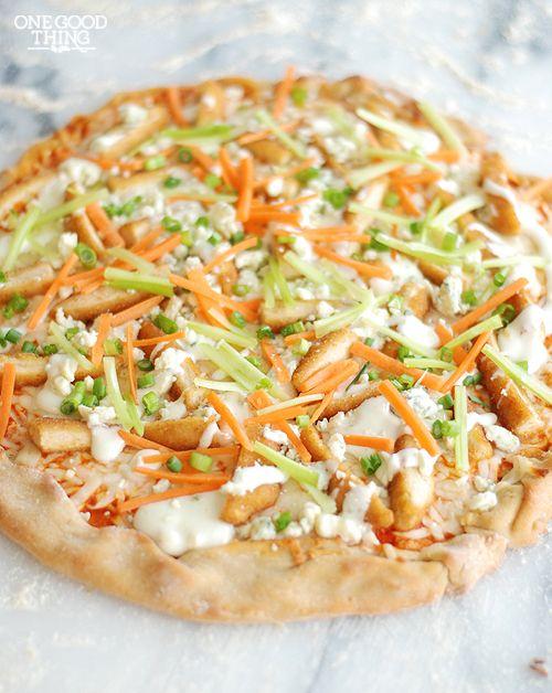 Buffalo Chicken Pizza--Gluten Free
