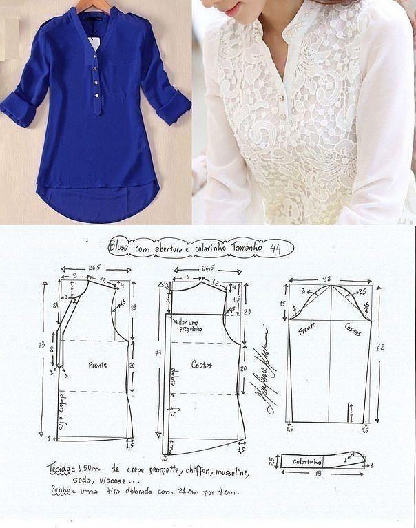¡El sastre • la Costura, el rehacimiento - es fácil! Bluzka las dimensiones del EURO