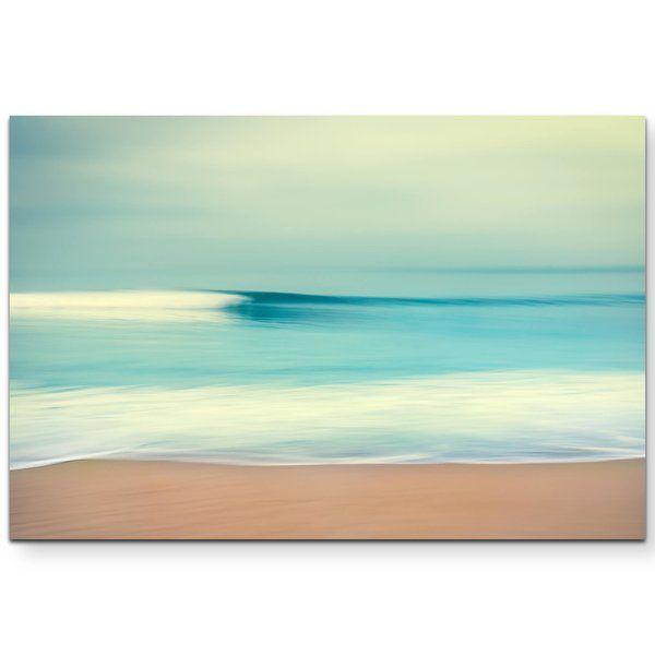 Leinwandbild Strand Mit Blick Auf Das Weite Meer Bilder Leinwand Leinwandbilder