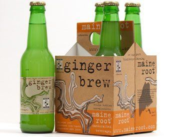 Maine Root Ginger Brew Soda 12 Ounce  4 per pack  6 packs per case ** Click image for more details.