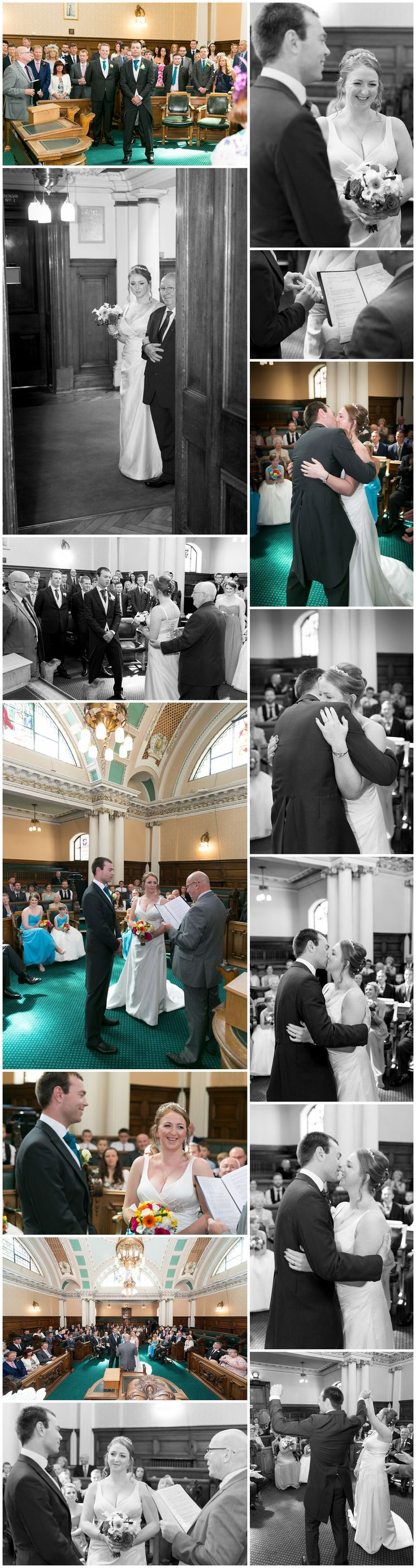The wedding ceremony at Stockport Town Hall