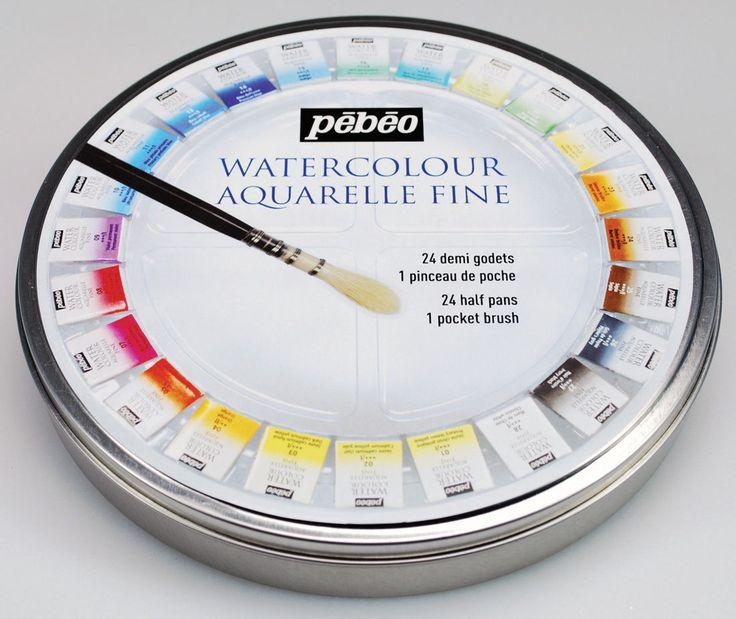 Details Pebeo Artist Painting Water Colour Aquarelle Fine 24
