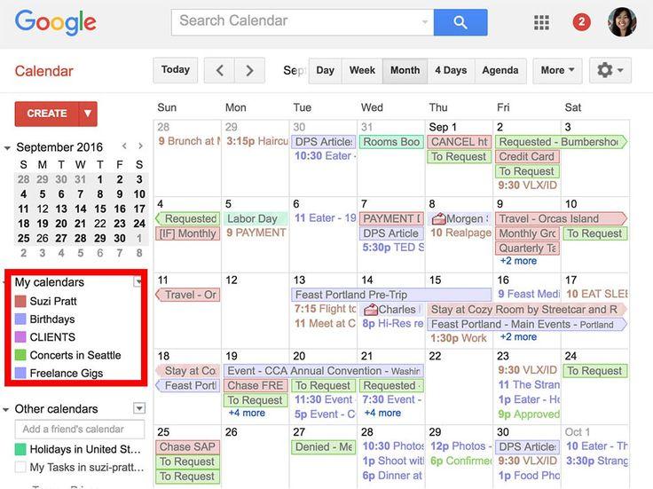 Photographer schedule calendar