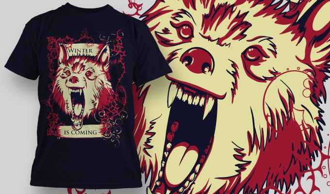 Wolf design.  Suitable for Front side.