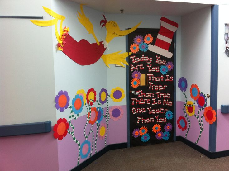 Classroom Decoration Ideas On Dailymotion : Dr seuss classroom door decoration we elaborated on an