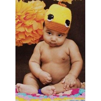 Вязаная шапочка Утенок вязание для новорожденных цена купить отзывы характеристики