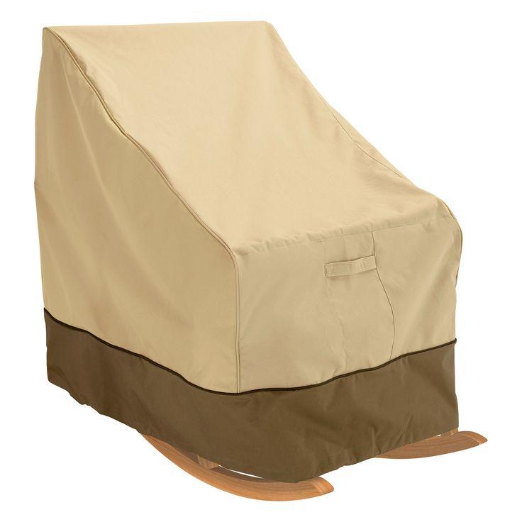Veranda Large Patio Rocking Chair Cover - Light Pebble - Classic Accessories