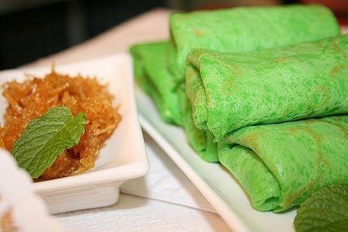 "Kueh Dadar Recipe. Kuih Dadar is sometimes called ""Nyonya"" kueh (Nyonya coconut pancake), was originated by the Malay community back in ..."