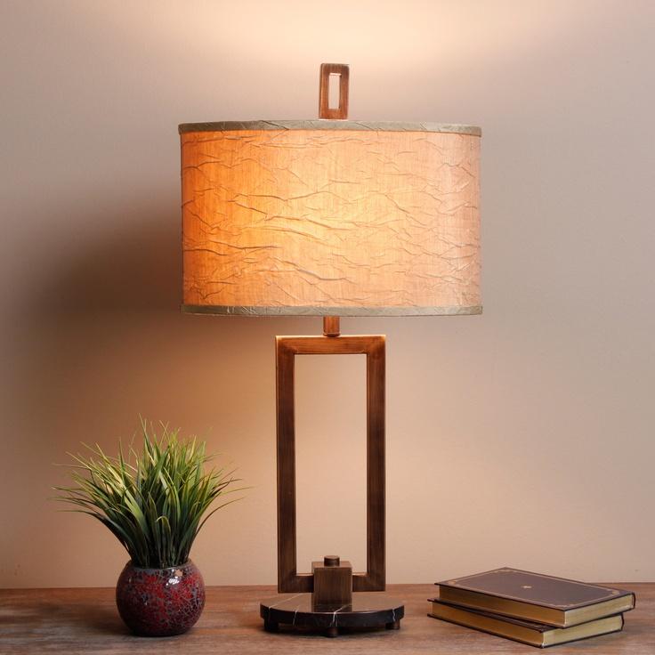 Fan Sui 3 Way Bronze Table Lamp