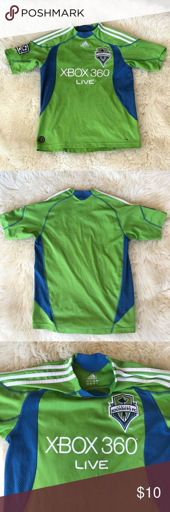 ADIDAS SEATTLE SOUNDERS FC SOCCER TOP Really good shape soccer top by Adidas Adidas Shirts & Tops Tees - Short Sleeve