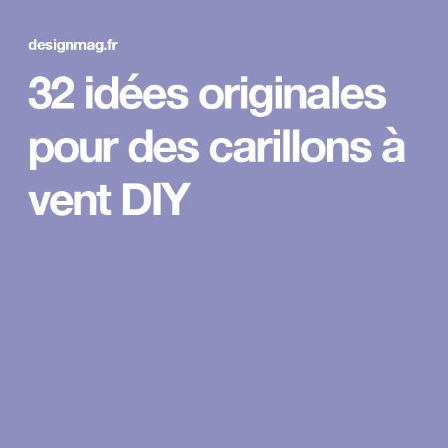 Les 25 meilleures id es de la cat gorie carillon sur pinterest les carillon - Idees vacances originales ...