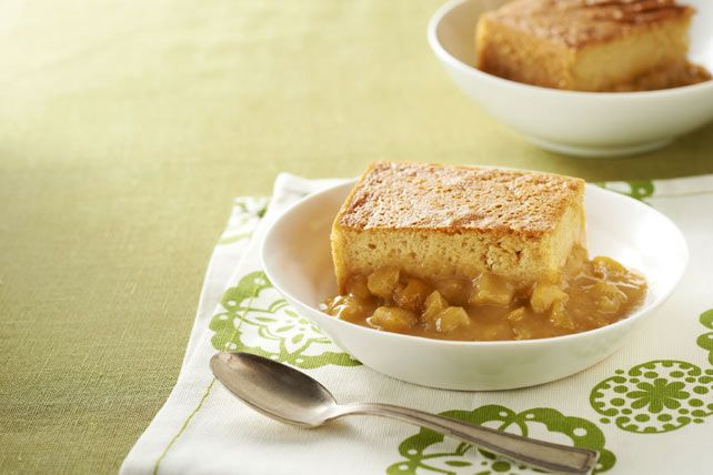 Fragrant with apple pie spices and creamy with butterscotch-flavor pudding, this glorious apple cake sure knows how to please a crowd!
