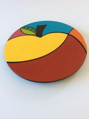 Susan perezosa madera hecho a mano pintada frutas modernos