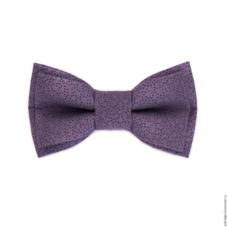 Купить Галстук бабочка лилового цвета в крапинку / Бабочка галстук лиловый - галстук бабочка