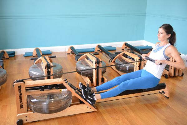 Rowing Pyramid Workout with Bodyweight Exercises