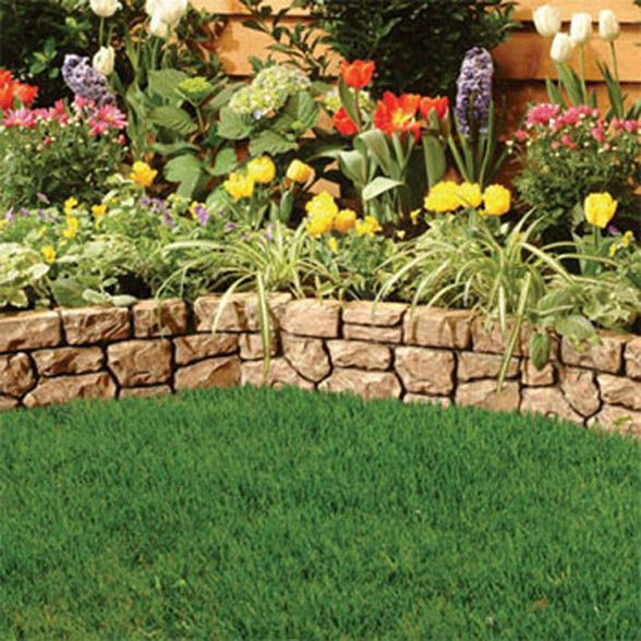 Florida flower bed landscaping ideas landscaping edging for Rock garden bed ideas