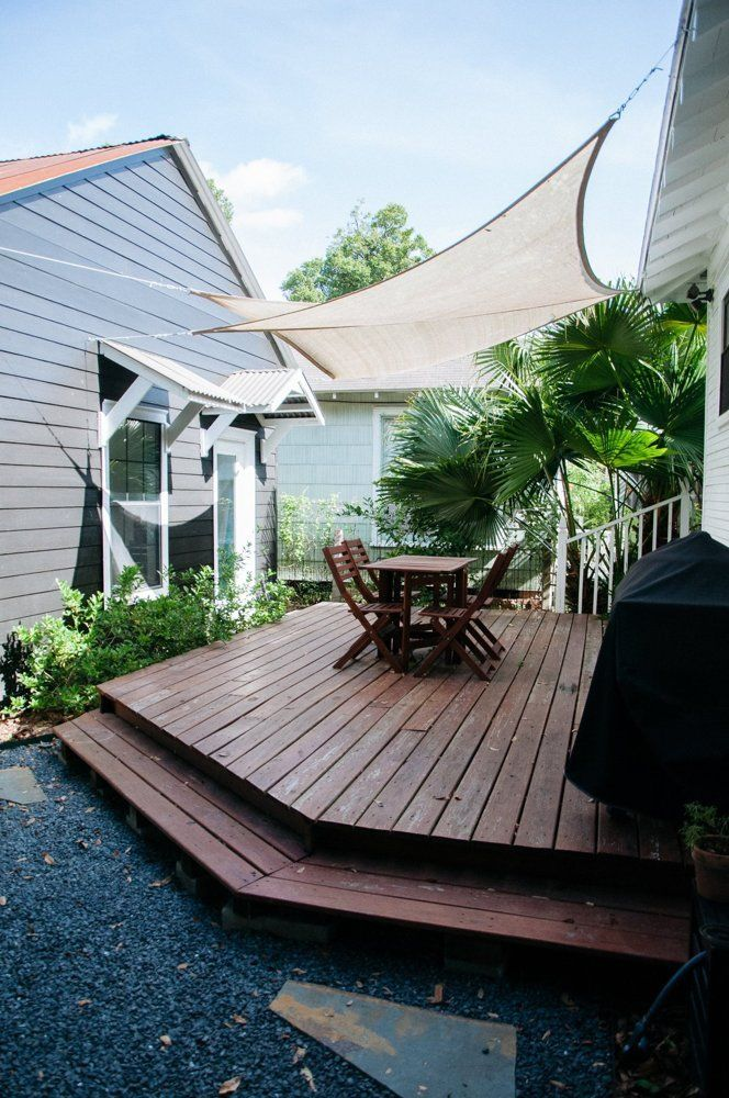 how to make an outdoor sun shade for the deck