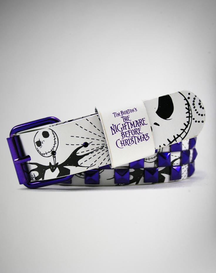 Nightmare Before Christmas Jack Purple Anodized Belt