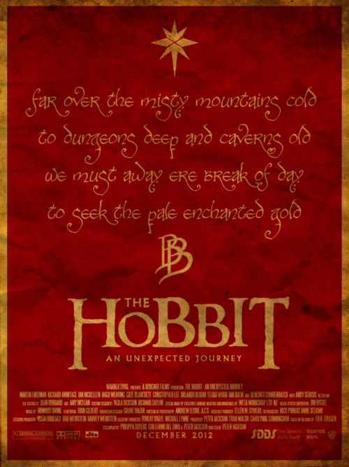 The Hobbit: An Unexpected Journey (2012) - Waiting somewhat impatiently...especially since the music is again by Howard Shore.Misty Mountain, The Hobbit, Posters Design, Middleearth, Hobbit Lotr, Alternative Movie, Middle Earth, Minimal Movie Posters, Thehobbit