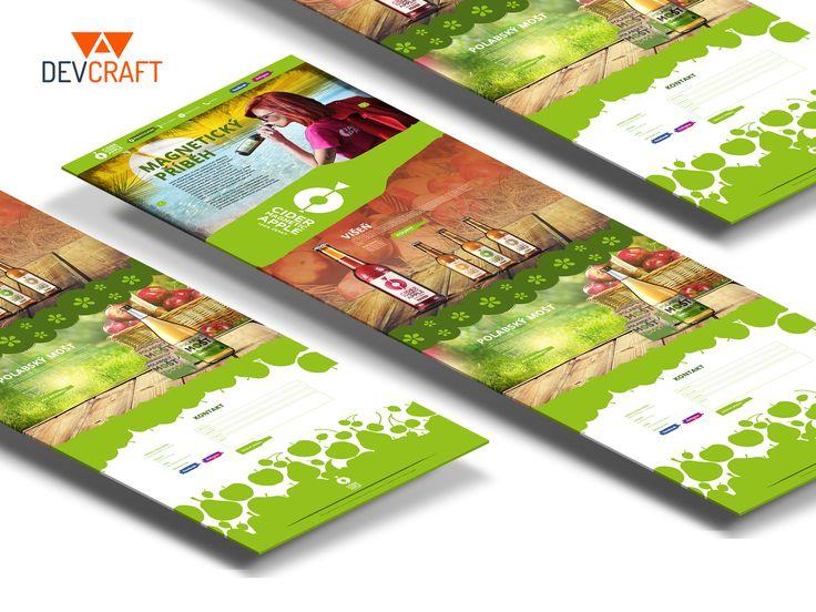 Webdesign nových prezentačních stránek pro Cider Magnetic Apple