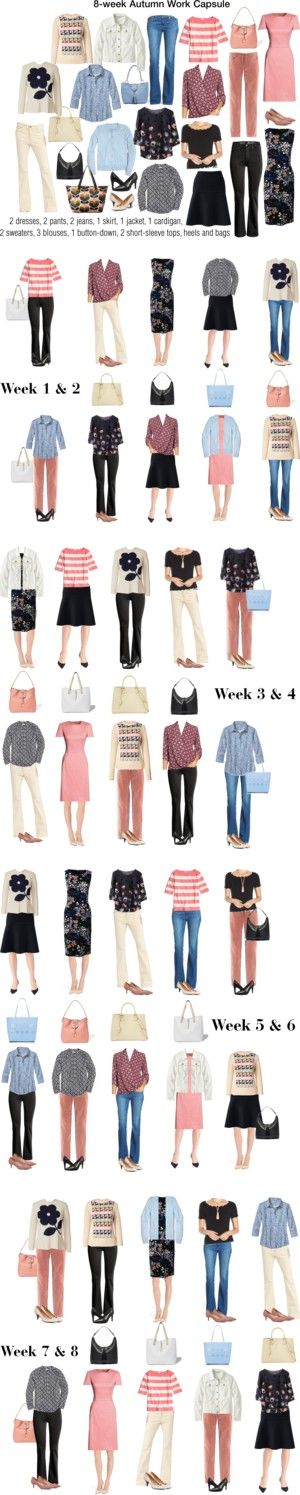 8-week Autumn Work Capsule by kristin727 on Polyvore featuring Rayne, Paige Denim, Lauren Ralph Lauren, Canvas by Lands' End, Lands' End, Franco Sarto, Orla Kiely, Brooks Brothers, L.L.Bean and J.Crew