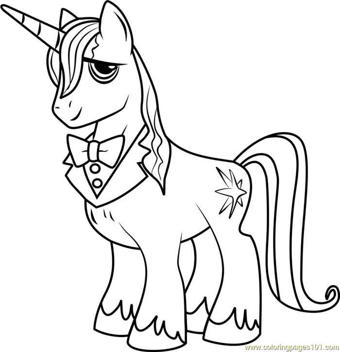 Prince Blueblood My Little Pony Coloring Page My Little Pony Coloring Horse Coloring Pages Cartoon Coloring Pages