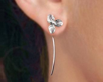 Calla lily flower earrings sterling silver by RingRingRing on Etsy
