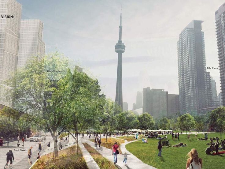Mayor John Tory announced the city's desire to deck over the downtown railway corridor between Bathurst Street and Blue Jays Way.