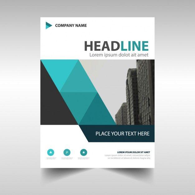 Многоугольная корпоративная брошюра Free Vector