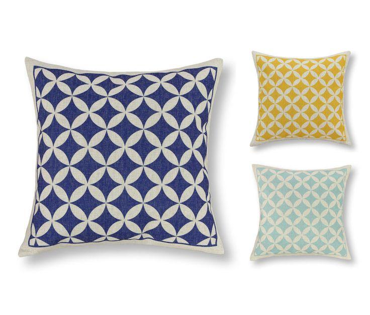 Vintage Home Decor Cushion Covers Pillows Shell Geometric Rings Chain 45 X 45cm