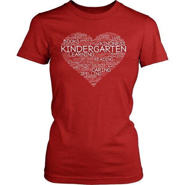 Kindergarten - Heart - District Made Womens Shirt / Red / S - 1