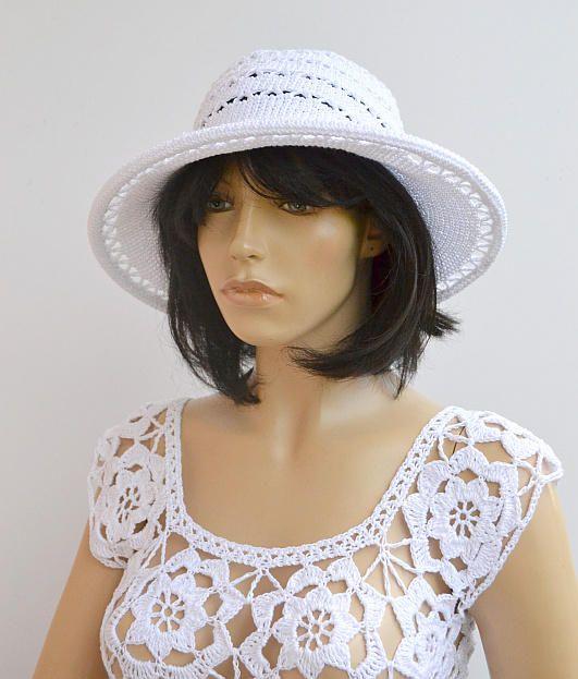 Summer hat Beach hat Cotton hat Womens  Spring hat Bucket