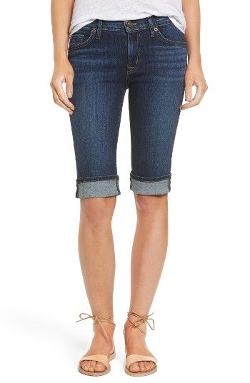 Free shipping and returns on Hudson Jeans Amelia Rolled Knee Shorts (Blue Moon) at Nordstrom.com. Not too short, not too long... just right. Sleekly fitted like your favorite skinnies, these versatile shorts feature cute rolled cuffs that highlight the sunshine-ready length.
