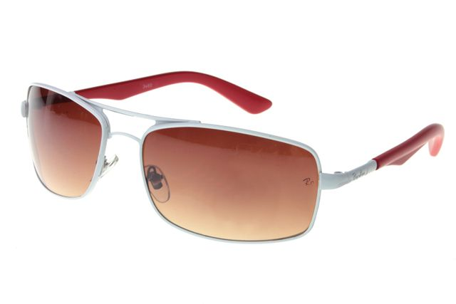 Ray Ban Active Lifestyle RB3460 Sunglasses Red/White Frame Tawny Lens