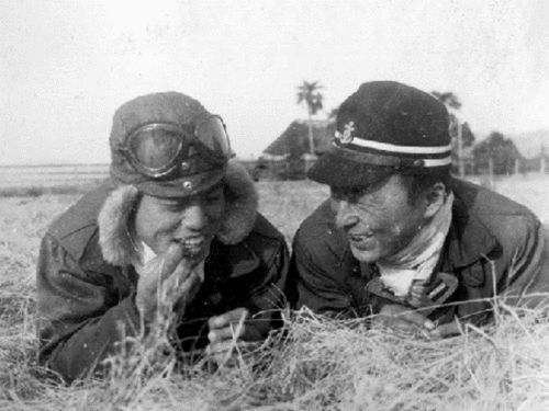 happy japanese navy airforce officers