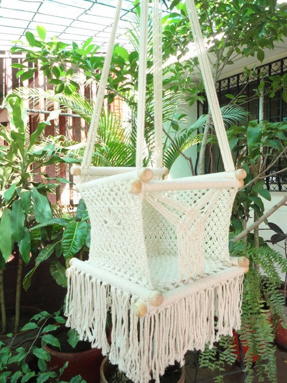 Beige Color Happy Baby Chair Hammock for Children by hamanica