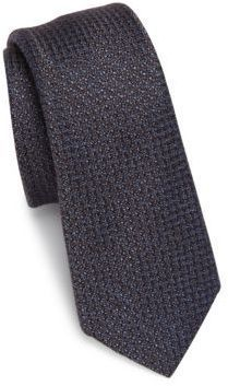 Saks Fifth Avenue Collection Chelsea Textures Silk & Wool Blend Tie