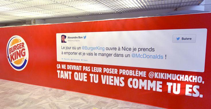 Burger King lance un petit pic à Mcdonald's sur la façade de son futur restaurant à Nice