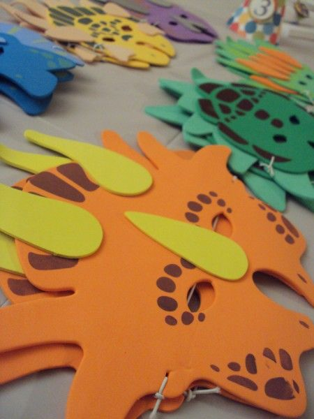 dinosaur masks-Let http://www.timerental.biz/ help you create your child's dream birthday.
