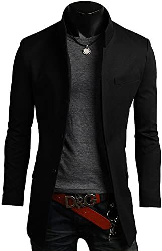 Buy Men's Premium China Collar Long Blazer Jacket Coat