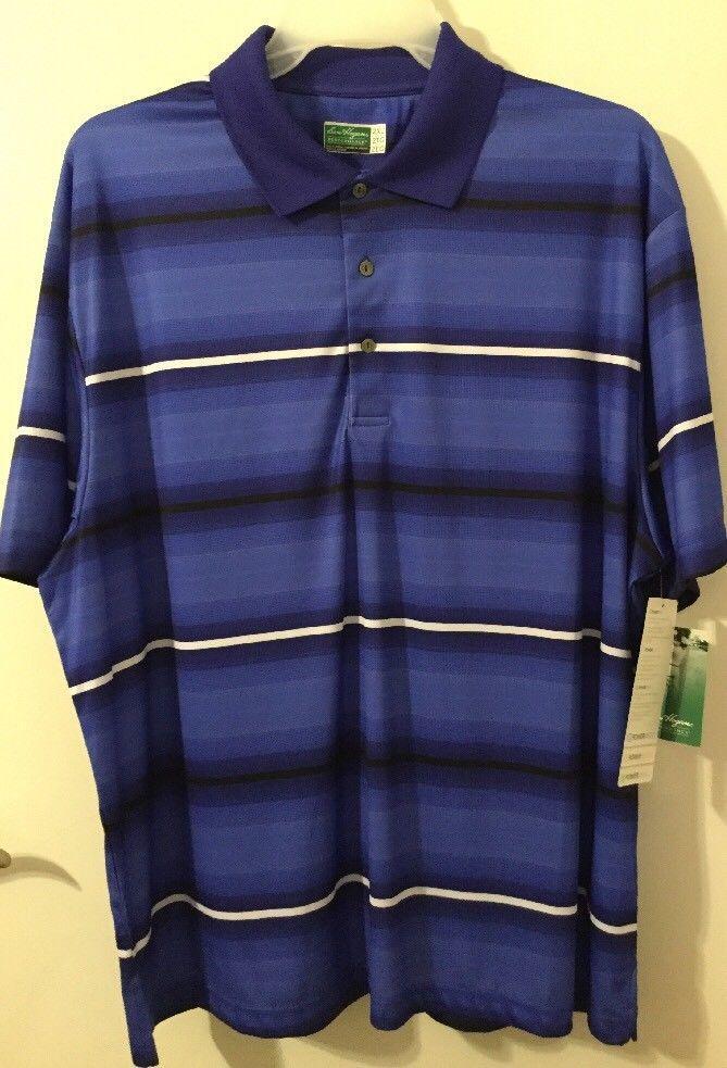 Ben Hogan Performance Power Series Striped Polo Golf Shirt Big Mens Size 2XL 3XL #BenHogan #GolfPoloShirt