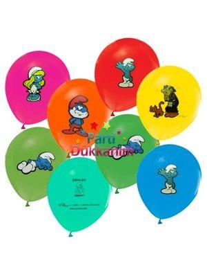Şirinler Balonları (20 adet)