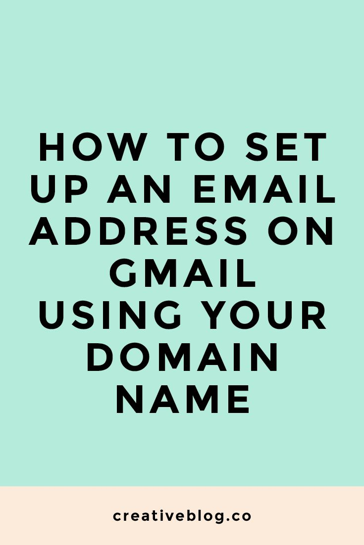 Domain Name Email Address | Gmail | Email | Start a Blog