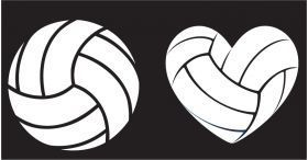 Volleyball decals for your car windows, lockers, mirrors or any where you want to stick it!