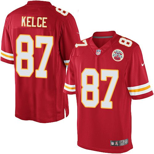 $24.99 Nike Limited Travis Kelce Red Men's Jersey - Kansas City Chiefs #87 NFL Home