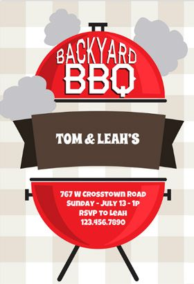 backyard bbq printable invitation template customize add text and photos print or download. Black Bedroom Furniture Sets. Home Design Ideas