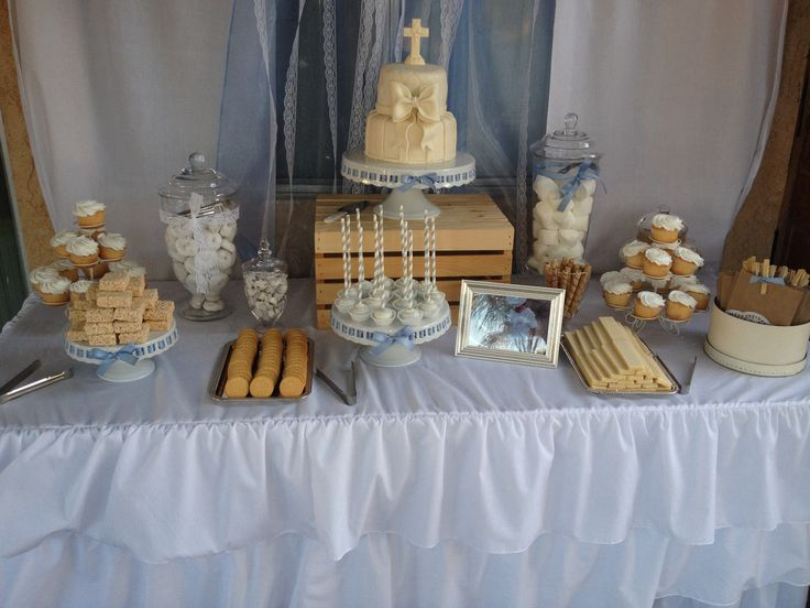 baptism candy table vintage candy buffet shabby chic candy bar bautismo candy buffet. Black Bedroom Furniture Sets. Home Design Ideas